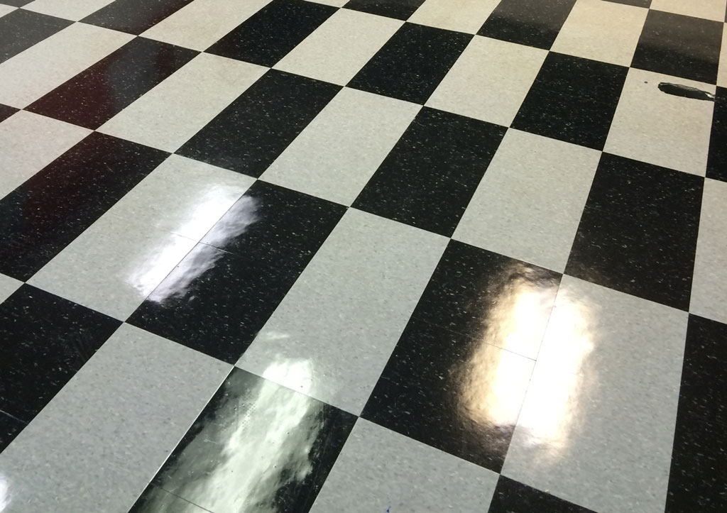vinyl commercial composite tile floor refinishing Detroit
